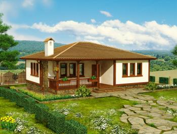 1-storey traditional Bulgarian house