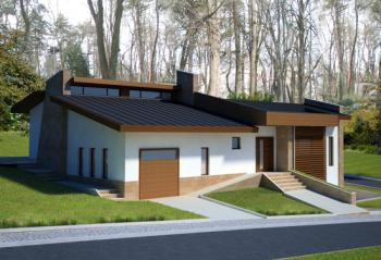 3-bedroom bungalow with garage and basement, modern practical house