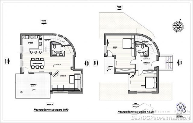 2 bedroom country villa modern design rural villa plan for Plan villa r 2