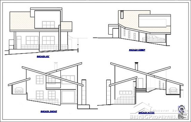 2 bedroom country villa modern design rural villa plan for Plan des villas modernes