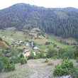 Mountain pasture with two houses near Bansko